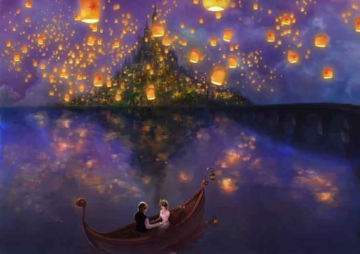 Wallpapers For > Thomas Kinkade Disney Wallpaper Tangled