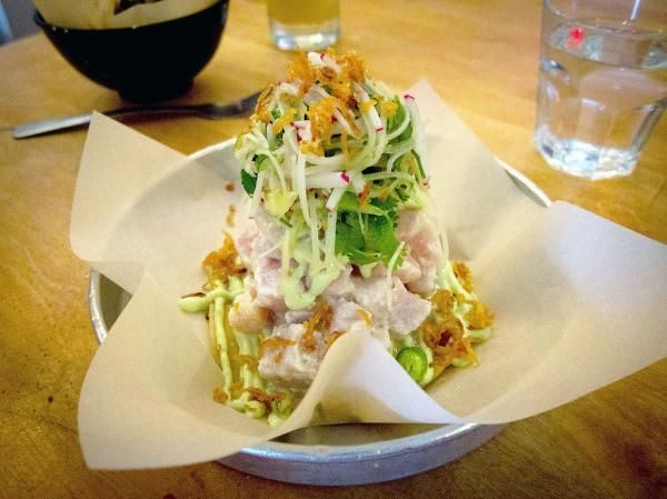tuna ceviche with spicy avocado mayo and crispy shallots more ceviche ...