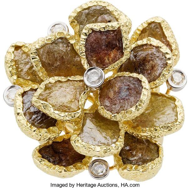 Недвижимости ювелирных изделий: кольца, Multi-Color Алмазная, Diamond, Золотое Кольцо.  ...