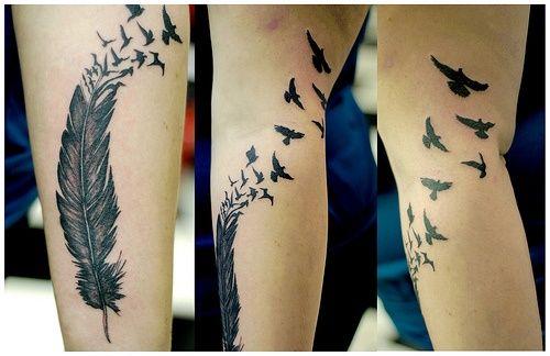 raven tattoo: Tattoo Ideas, Birds Tattoo, Ravens Tattoo, Tattoo Patterns, A Tattoo, Tattoo Design, Arm Tattoo, Feathers Tattoo, Tattoodesign
