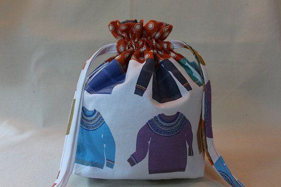 Fair Isle yugo suéter proyecto bolsa