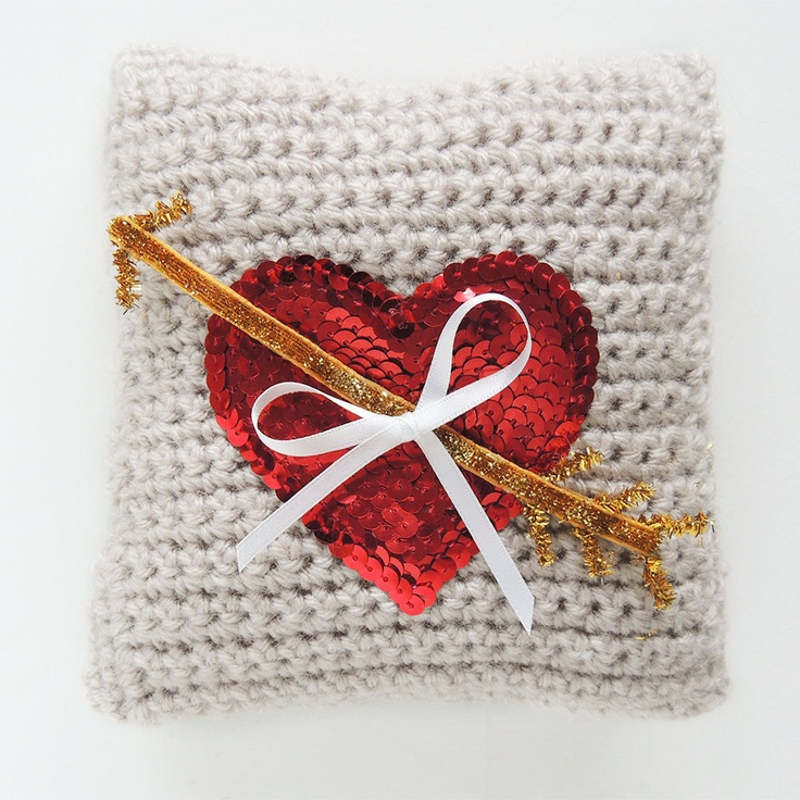 Cupid Heart Ring Bearer Pillow