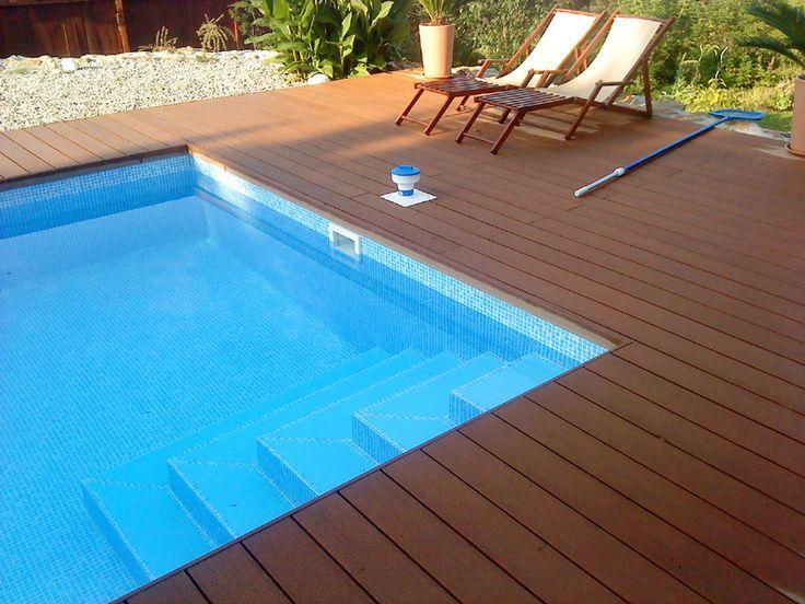 obložení bazénů -dřevoplast