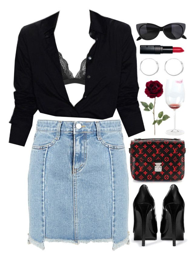 """Heartbreaker"" by brigi-bodoki ❤ liked on Polyvore featuring Topshop, Zara, Louis Vuitton, Rare London and Bobbi Brown Cosmetics"