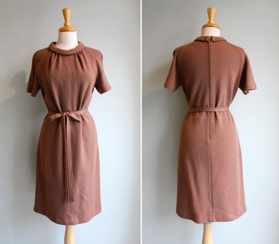 Vintage 1950s Camel Cocktail Dress.