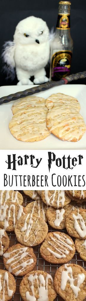 Love Harry Potter? Then you'll love these Butterbeer Cookies! They'll transport you straight to The Three Broomsticks, The Hog's Head or the Leaky Cauldron. #harrypotter #cookierecipe #butterbeer #harrypotterrecipes