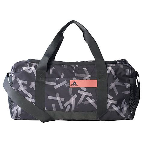 Buy Adidas Good Graphic Team Bag, Small, Grey Online at johnlewis.com