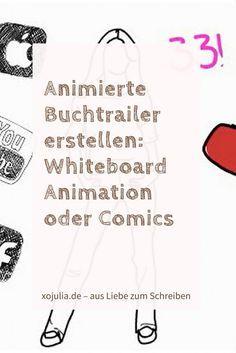 Animierte Buchtrailer erstellen- Whiteboard Animation oder Comics