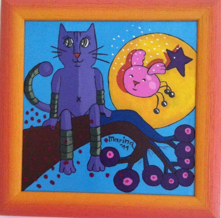 Dipinto gatto