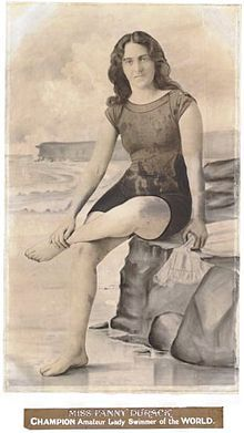 """Sarah Frances """"Fanny"""" Durack (27 October 1889 – 20 March 1956) was an Australian swimmer. From 1910 until 1918 she was the world's greatest female swimmer of all distances from freestyle sprints to the mile marathon."""