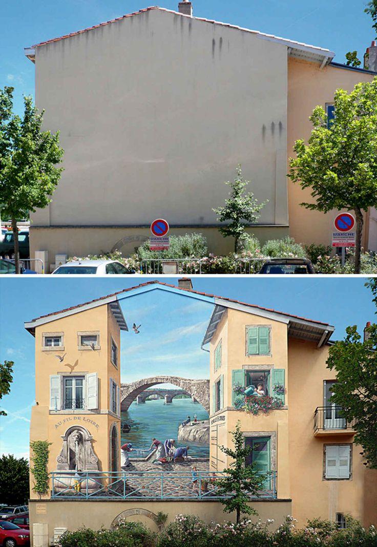 Artist Transforms Boring Building Facades into Hyper Realistic Murals - BlazePress