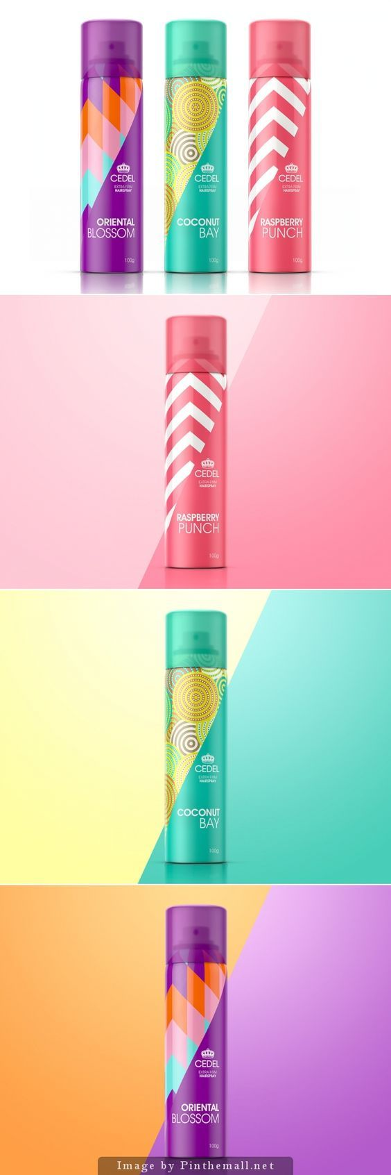 Cedel Scented Hairspray by Glen Crawforth #packaging #design: