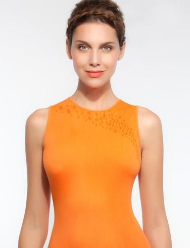 Tank Top Orange Microfiber Stretch | eBay