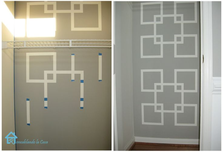 great paint idea - I'd do this in a bedroom.  Remodelando la Casa: The Monster Inside the Closet