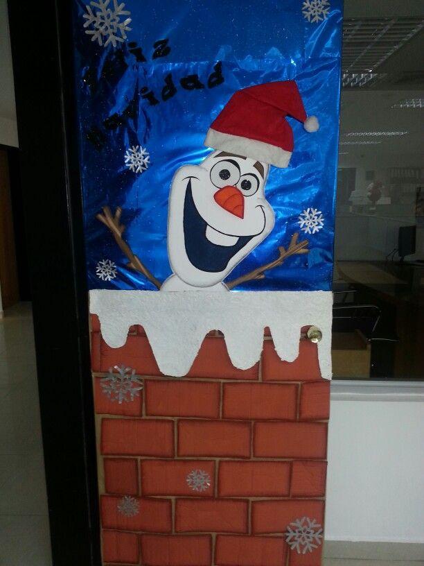 M s de 1000 im genes sobre puertas en pinterest navidad - Adornos de navidad para las puertas ...