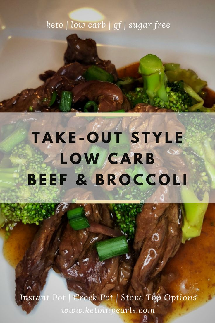 Only 2 carbs per servings for this clean, keto friendly version of beef and broccoli! Recipe includes adaption for instant pot, crock pot & stove top!