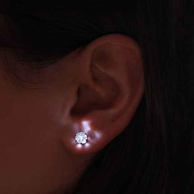 LED Light-Up Stud Earrings, $9