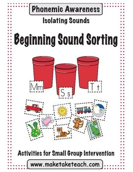 Colorful pics for sorting the letters and sounds of the alphabet