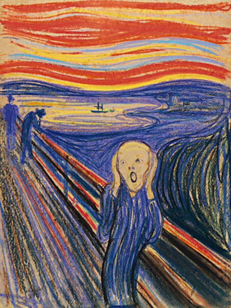 Des versions modernes du cri de Edvard Munch Dessein de dessin | Le cri, Tableau le cri, Le cri ...