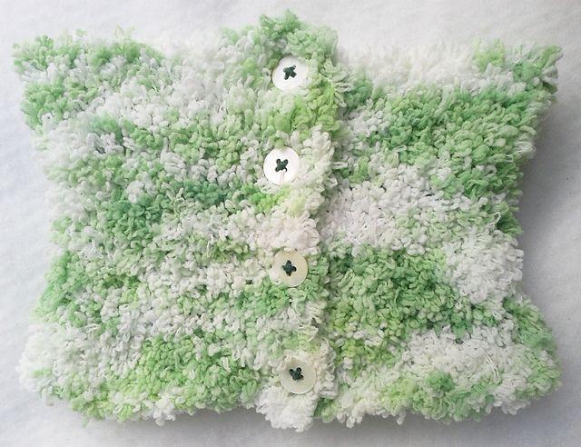 Ravelry: NanniClover's Fluffy Candy-Floss White & Green Neck Warmer / Cowl
