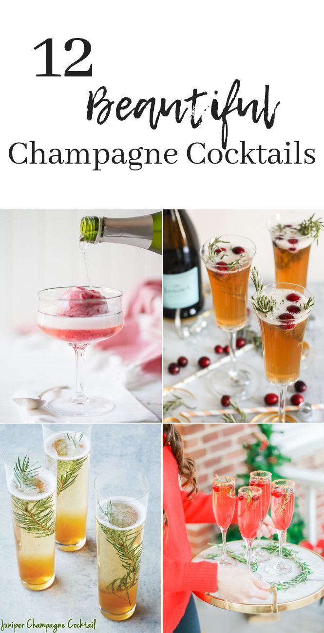 12 Champagne Cocktails Champagne Cocktail New Year S Eve