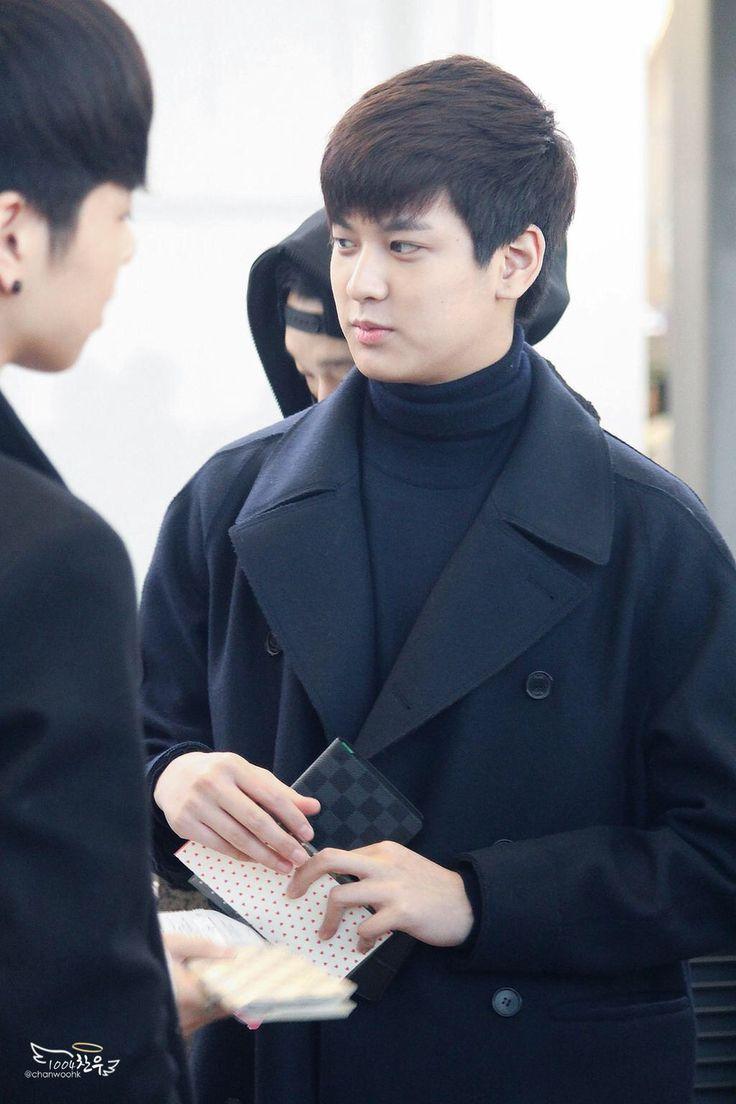 Chanwoo at Airport #ikon #ikonyg #kpop