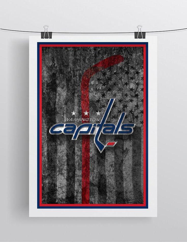 Washington Capitals Hockey Flag Poster, Washington Capitals Gift, Caps Flag, Washington Capitals Poster