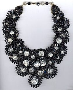 Vintage black collar-type necklace by Coppola e Toppo. Sold for 2,700 dollars on ebay.