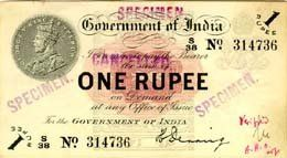 first set of indian currency by British government ...... check out the one rupee note ......