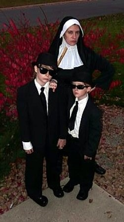 """Blues Brothers costume. """"We're on a mission from God"""""""