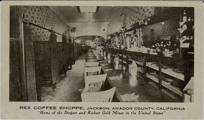 1898 Jackson California - Early Amador County Advertising Postcard - Mining Town