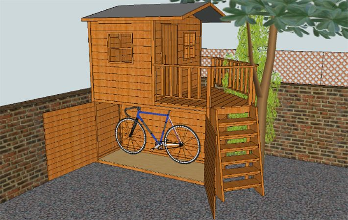Bike Shed and Play House Combo!