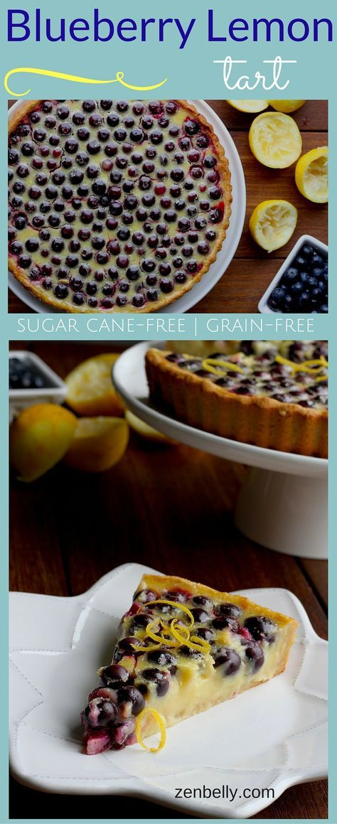 BLUEBERRY LEMON TART paleo glutenfree