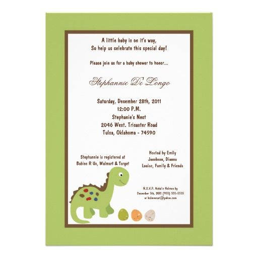 5x7 dinosaur baby shower invitation dinosaur baby shower invitations