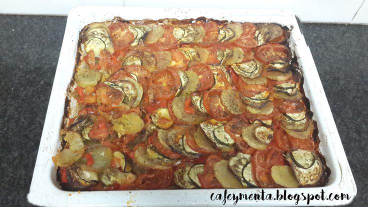 Ratatouille.- Delicioso plato de verduras al horno