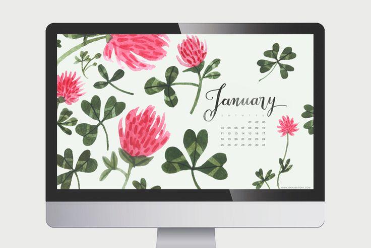 Free Calendar Wallpaper January : January calendar oana befort free wallpaper