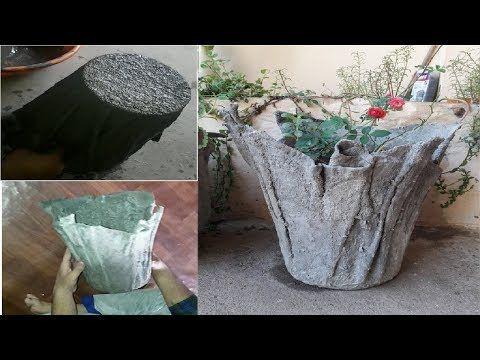 blumentopf aus beton und t cher draped cement planters youtube basteln alte handt cher. Black Bedroom Furniture Sets. Home Design Ideas