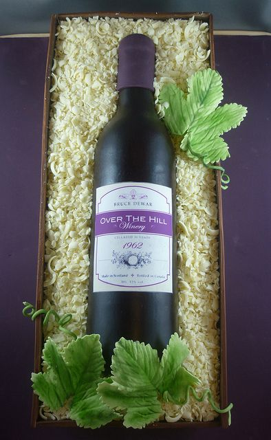 Wine bottle cake by saskia nollen, via Flickr