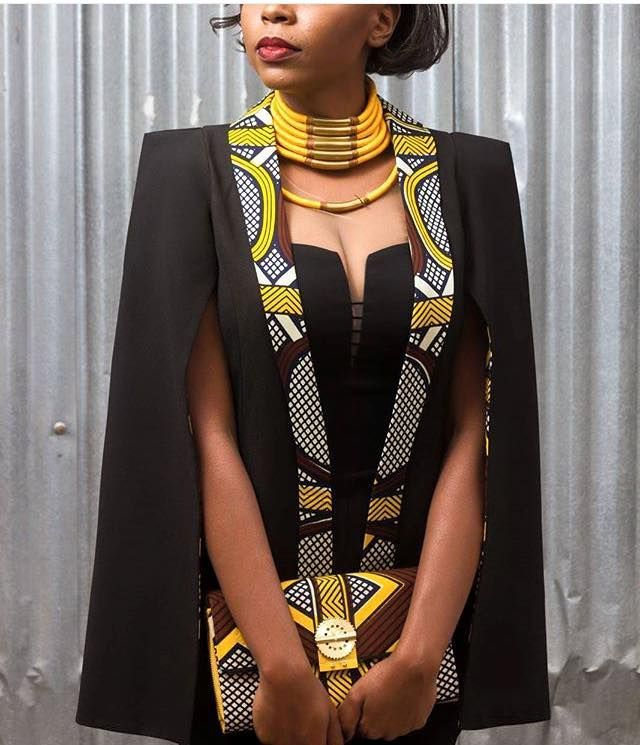 cool From Cape Dress To Cloak Dress; A Fashion That Will Rock African Fashion Lovers In 2016 | FashionGHANA.com: 100% African Fashion