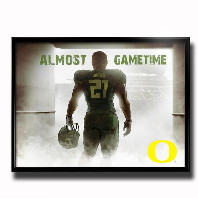 Oregon Ducks Almost Game Time 24x18 Football Poster