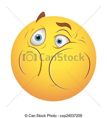 Vector - bang,  Smiley - stock illustratie, royalty-vrije illustraties, stock clip art symbool, stock clipart pictogrammen, logo, line art, EPS beeld, beelden, grafiek, grafieken, tekening, tekeningen, vector afbeelding, artwork, EPS vector kunst