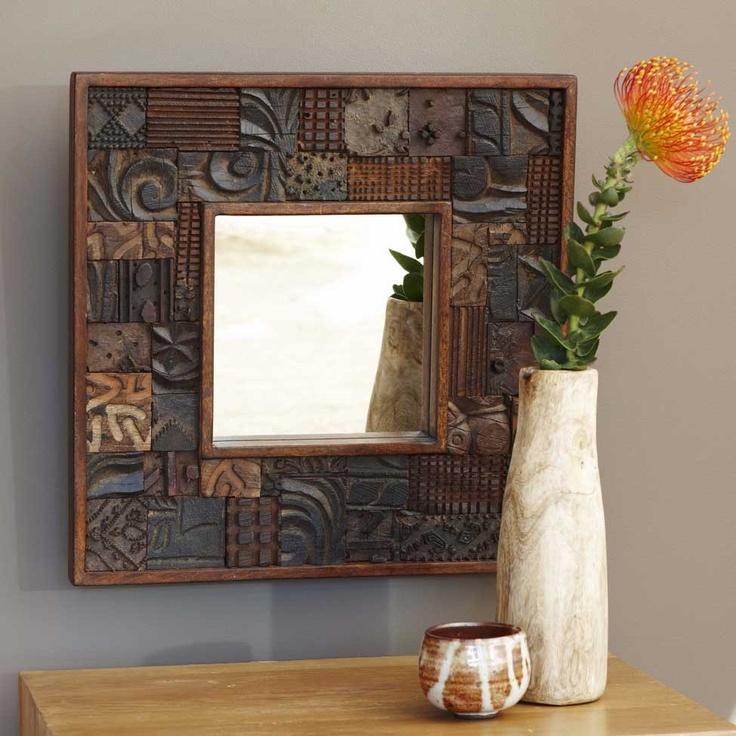 Print Block Mirror - Wall Decor - Home Accessories - VivaTerra