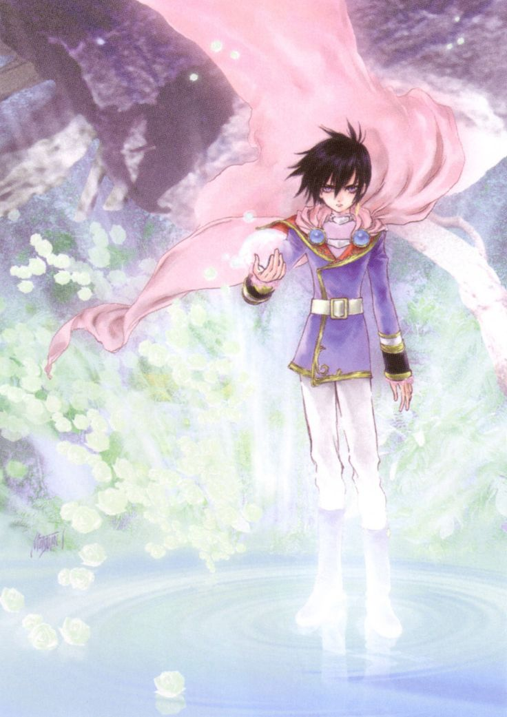 Leon Magnus from Tales of Destiny illustration by Mutsumi Inomata