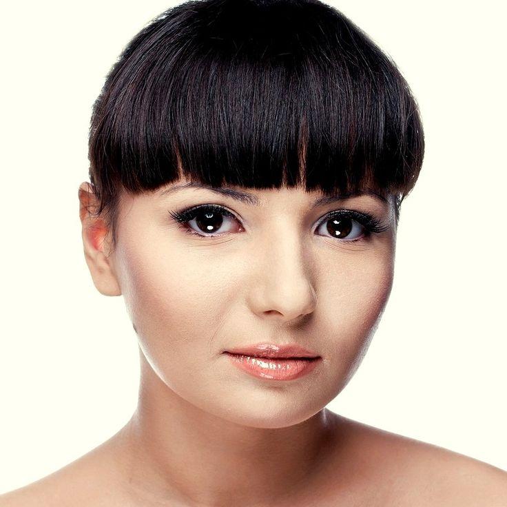 Причёска с ЧЁЛКОЙ, чёрные прямые волосы http://www.livemaster.ru/hair-collection http://www.aleksandr-and-olga.ru/