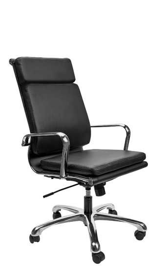 holland park high back executive conference chair with arms in black bonded leather advanced furniture