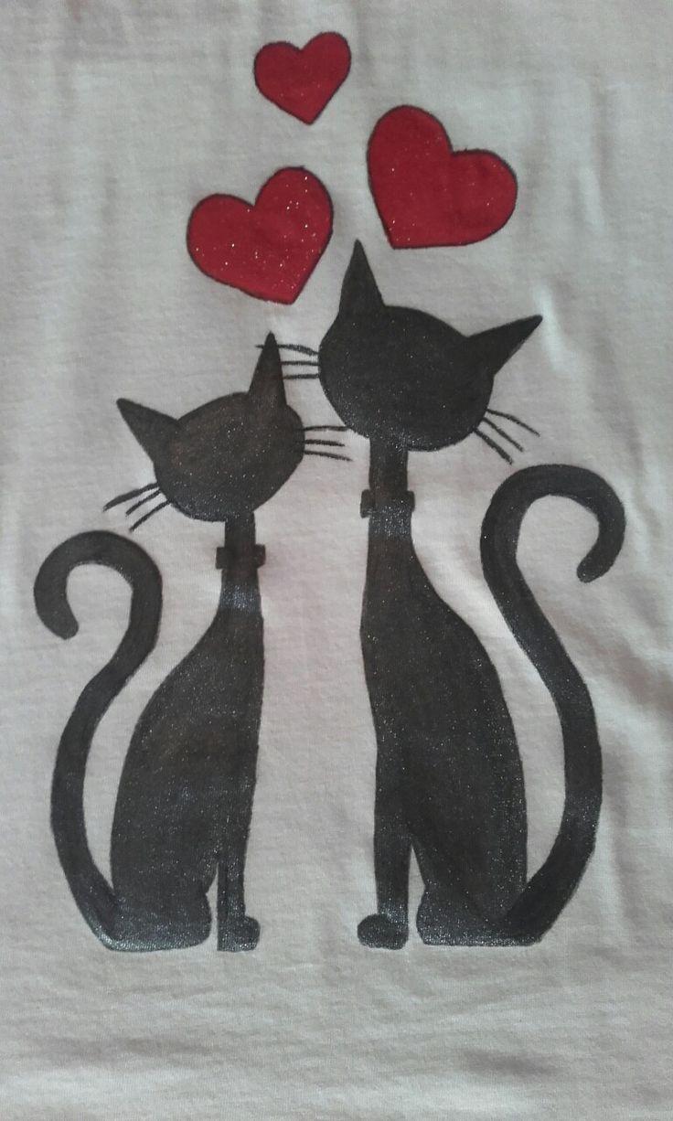 Maglietta Love cats dettaglio 1