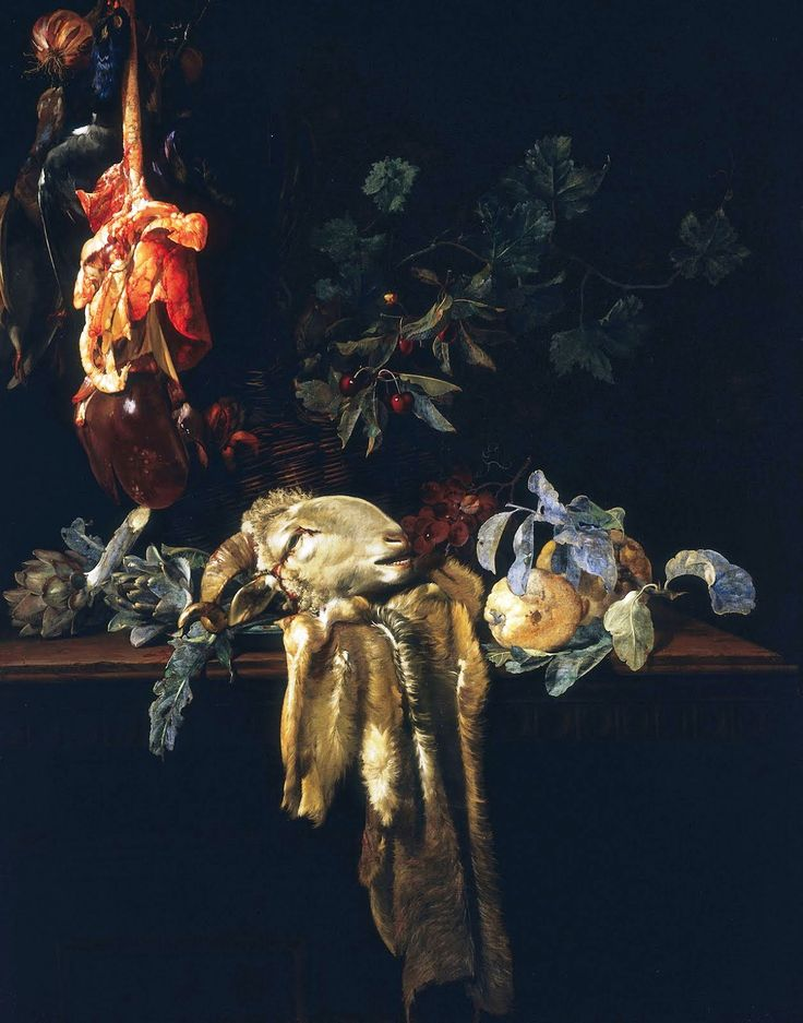 1652 - Aelst, Willem van - Still Life with Ram's Head