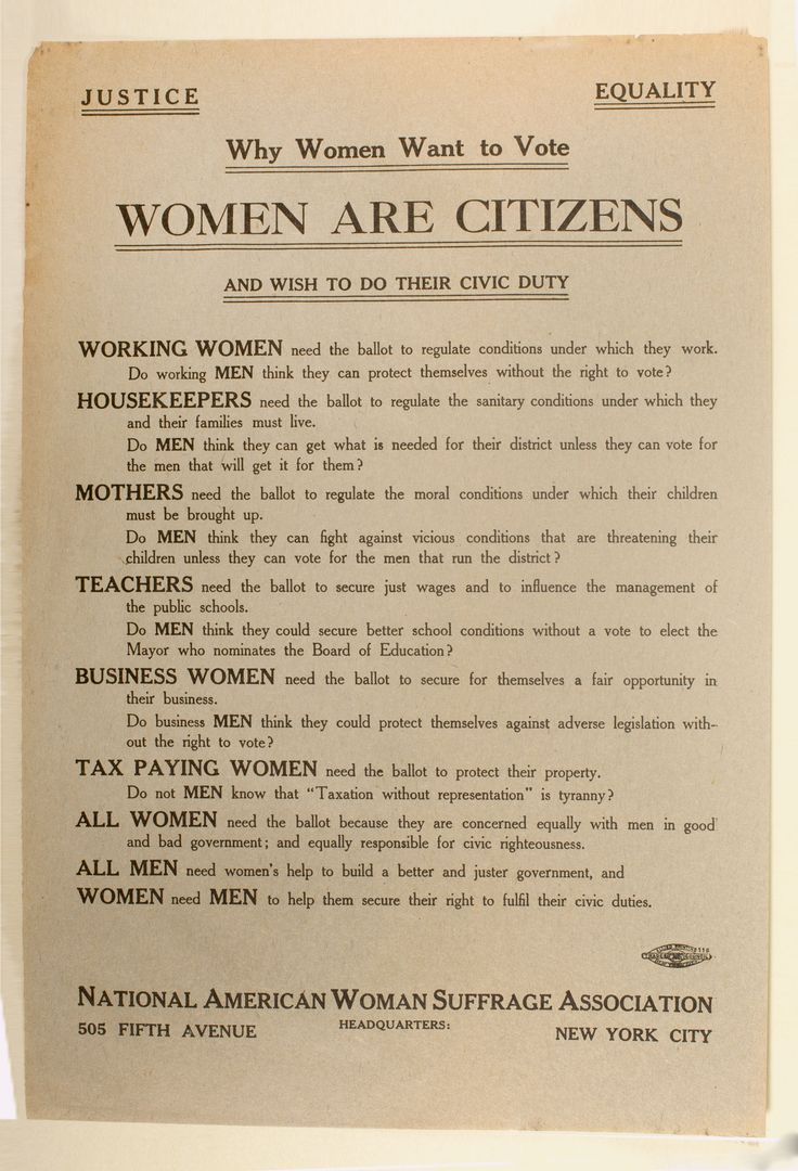 the womens suffrage movement essay