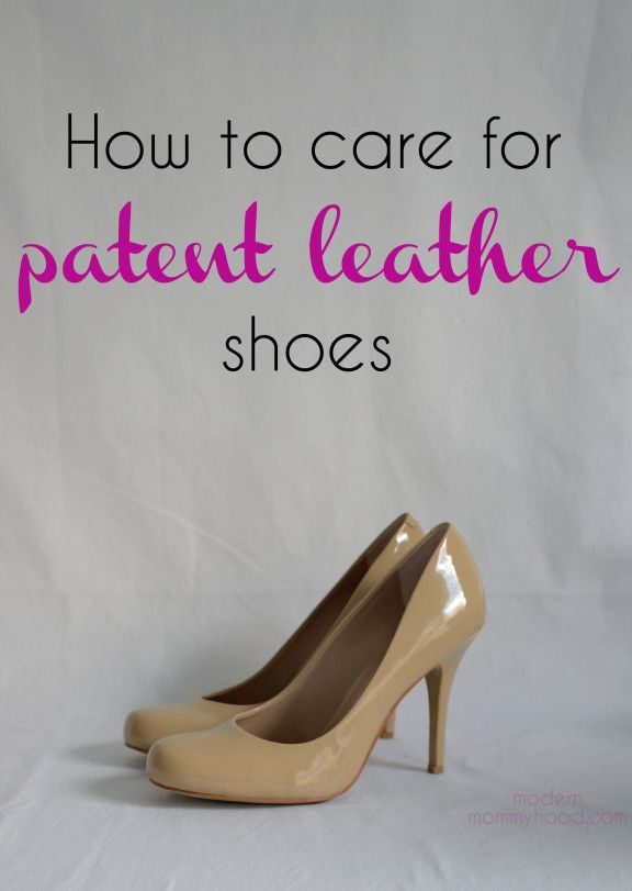 How to get scratches/color transfer out of your patent leather shoes || ModernMommyhood.com
