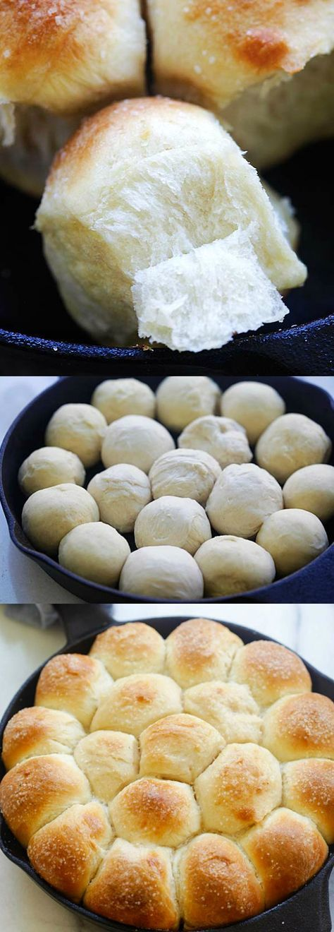 Skillet Dinner Rolls – the easiest and best homemade dinner rolls on skillet. Much better than store-bought and takes 60 mins | rasamalaysia.com